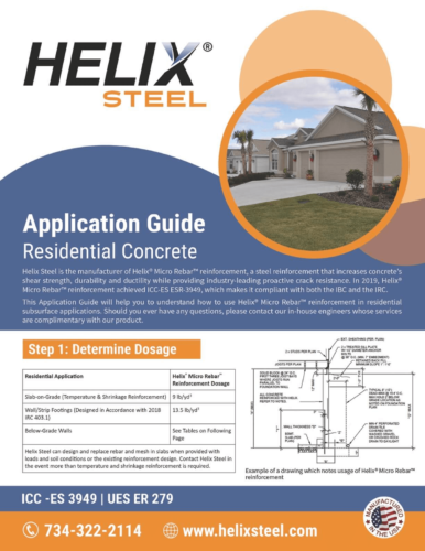 Helix Micro-Rebar Application Guide for Residential Concrete Projects - Helix Steel