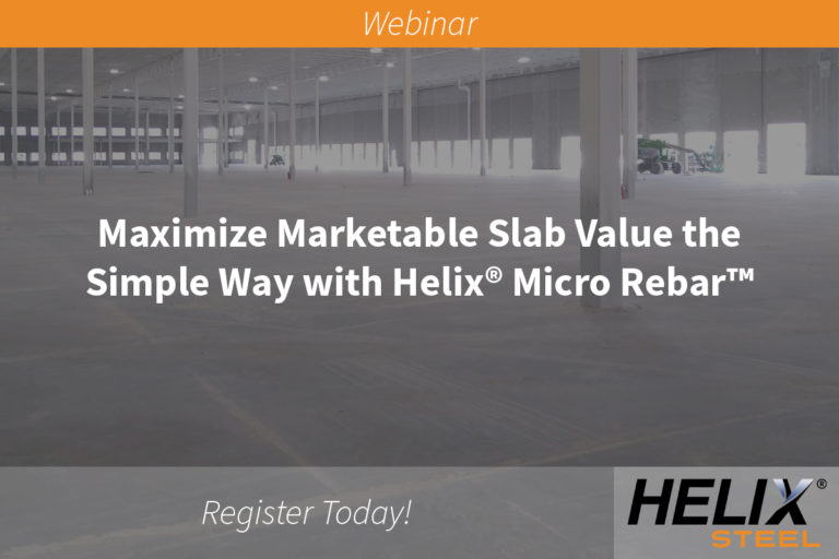 Groundbreaking Webinar to Offer Guide on Increasing the Value of Concrete Slabs - Helix Steel Webinar - feature image