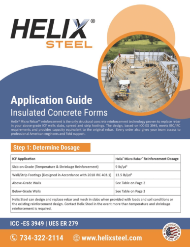 Helix Micro-Rebar Application Guide for ICF - Helix Steel