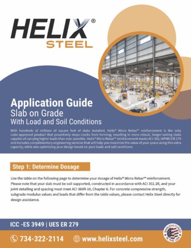Helix Steel Application Guide Slab on Grade